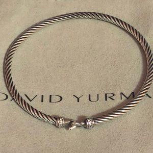 David Yurman 3mm diamond buckle bracelet